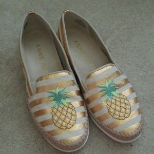 Pineapple espadrille flat shoe